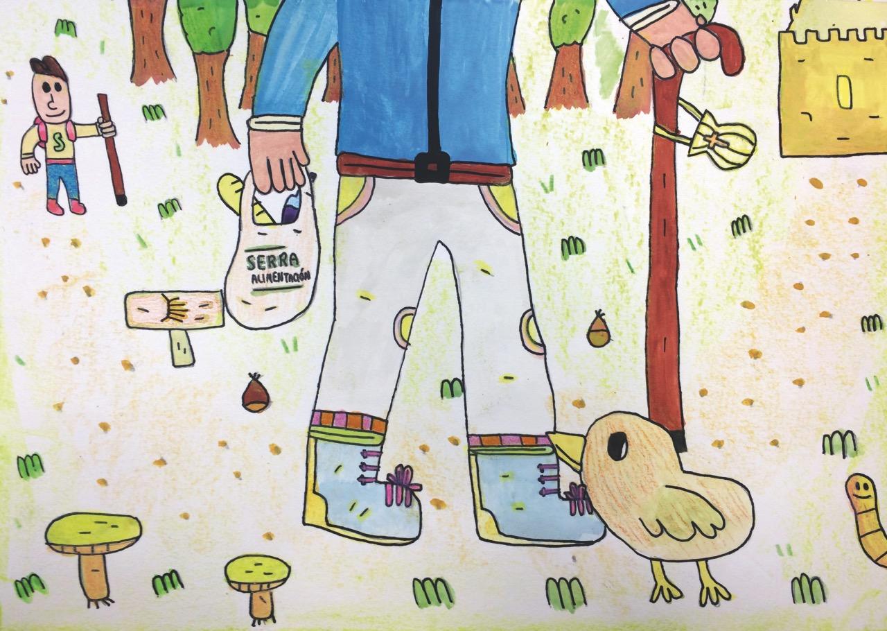 Gañador II Concurso de debuxo Serra Alimentacion